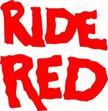 ride red style 1 vinyl decal window or bumper sticker honda atv cbr atc