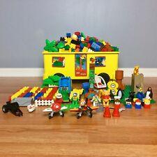 Lego Duplo HUGE LOT School Bus Storage Box 18 LBS Animals Cars Disney Planes