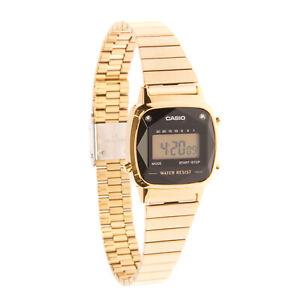 CASIO Vintage Digital Watch Natural Diamonds Water-Resistant Quartz Movement