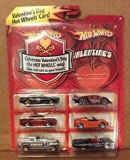 Hot Wheels Target Valentine's Day Gift 6 Pack w/ Orange Tesla & Red Porsche 959