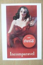 Advertising PostCard- BEBA COCA COLA: INCOMPARAVEL, brand card @1991 Coca Cola