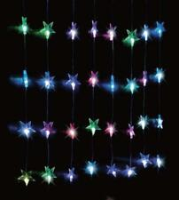 24 DEL multi-couleur star Curtain String Lights Indoor/Outdoor Star Fairy Lights