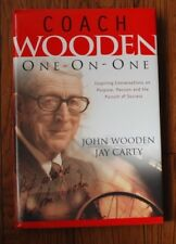 "SIGNED ""COACH WOODEN ONE-ON-ONE"" by John Wooden and Jay Carty HC/DJ Mint BC"