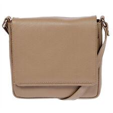 Kleine echt Leder Damen Tasche Handtasche Schultertasche Umhängetasche Taupe NEU