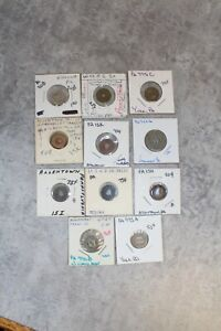 10 Transportation Tokens Circulated Lot - Pennsylvania Old Collection #2