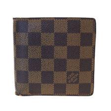 Authentic LOUIS VUITTON Marco Bifold Wallet Purse Damier Leather N61675 07SA577