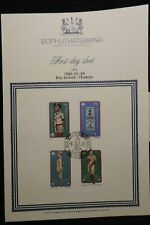Bophuthatswana South Africa 1982 boy scouts first day sheet scouts