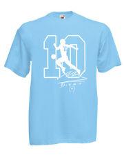 T-shirt MARADONA el dies Napoli Argentina pibe uomo bimbo autografo 100% cotone