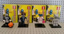 LEGO Minifigures MOSTRI Spettrali Boy, uomo d'affari zombie, SCIENZIATO PAZZO Gargoyle