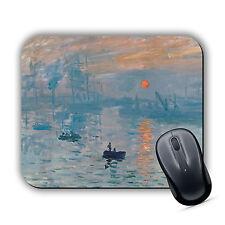 Impression Sunrise Claude Monet High Quality MOUSE MAT Pad Classic Art print New