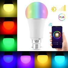 B22 9W RGB+W Smart Wireless Wifi Light Bulb Smartphone Control Light Bulb Home