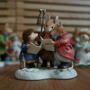Villeroy & Boch Foxwood Tales Hasen Figur Winter at Foxwood Carol Singers #13