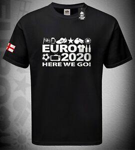 Mens 'Euro 2020 Tshirt Football Fan Supporter England Her We Go Shirt