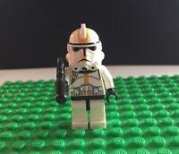 LEGO STAR WARS CORP STORM TROOPER MINIFIGURE  YELLOW MARKINGS  GUN L-39