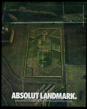 1993 Absolut Landmark landscape vodka bottle photo vintage print ad