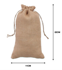 10 Pcs Medium Drawstring Burlap Linen Jewelry Pouch Wedding Favor Gift Bags