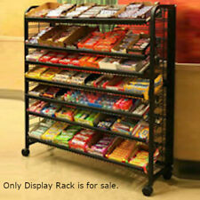 Floor Standing Metal Mobile Display Rack with 5 Shelves 48 W Inches 00004000