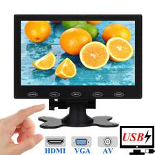 """7"""" LCD CCTV Monitor HD PC Screen HDMI AV RCA VGA BNC 1024*600 5V/2A USB Powered"""