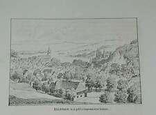 Herbolzheim Bleichheim Baden Ortsansicht Litho Lederle 1879