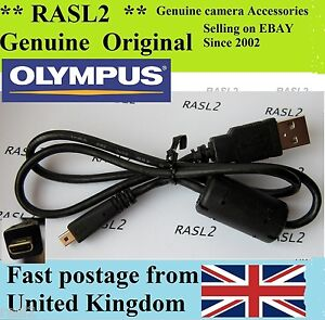 Genuine Olympus USB Cable Stylus mju u 1070sw  5000 T100 SP-600 X-925 X-935