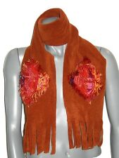 cea8b0a04790 ECHARPE femme 3 C DIFFUSION polaire   jacquard indien orange rouille rouge  neuve