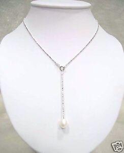 A42W Natürliche Zucht Süßwasser Perle Schmuck Halskette Perlenkette Kette