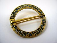 Vintage Collectible Pin: Gorgeous Foreign Pin High Quality Gold Tone