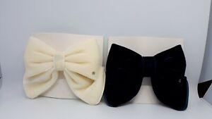 Authentic ALEXANDRE DE PARIS clip hair styling barrette with a bow in velvet