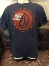 Volcom Men's Medium T- Shirt New Navy Red Pre -Shrunk Cotton Short Sleeve