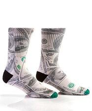 Fashionable Yo Sox Men's Crew Socks-Dollar Billz-$100-Benjamins-Money Hundred