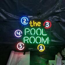 "Billiards Pool Room neon Light sign-17""×13"" bar Signs for Home Bedroom Garage N"