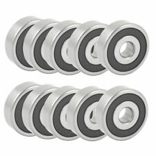 H● 10PCS Cylindrical 10mm x 35mm x 11mm Groove Ball Wheel Bearings 6300RS