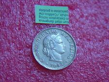 Münzen Schweiz 1943 B Swiss  1 x 20 Rappen 1943  B  Coin Svizzera siehe Bild
