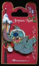 DLP DLRP Paris Noel Christmas Stitch Laughing Wearing Santa Hat Disney Pin