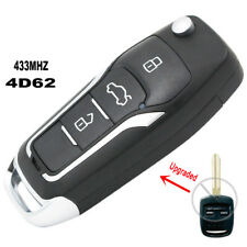 Upgraded Flip Remote Car Key Fob 433MHz 4D62 for Subaru Impreza Forester Liberty