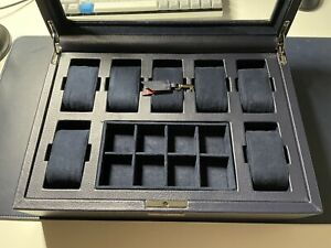 WOLF Howard Watch Box | 7 Piece + Storage | Navy | 465217