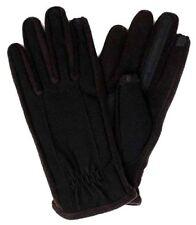 $125 Isotoner Men'S Black Fleece Smartouch Knit Athletic Winter Gloves Size L