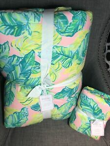 Pottery Barn Teen Lilly Pulitzer Local Flavor Comforter Full Queen + Euro Sham