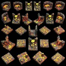NEW LAVA CAVERN SET Dwarven Forge *Expertly Hand Painted* GT5-LC-P Dwarvenite