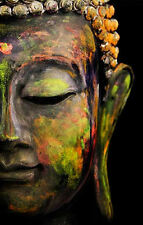 Framed Print – Colourful Face of Buddha (Picture Poster Art Buddhist Religion)
