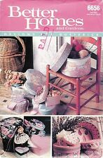 Better Homes Sewing Pattern # 6656 Nine Fabric Covered Boxes in 3 Shapes Uncut