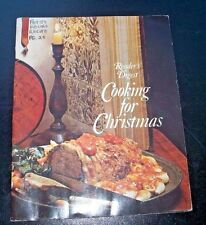 VINTAGE READERS DIGEST & THE FAMILY CIRCLE INC COOKING FOR CHRISTMAS PAPER BACK
