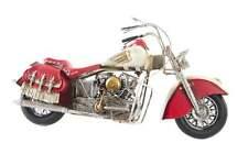 MOTOCICLETTA MODELLINO IN LATTA  MOTO SOPRAMMOBILE  DA COLLEZIONE IN METALLO