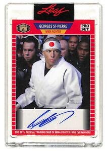 2021 Leaf Pro Set Georges St Pierre auto autograph card MMA