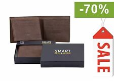 ✂ SALE RFID Blocking Mens contactless card Wallet Real Genuine Cow Leather ✂