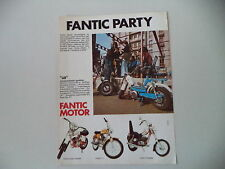 advertising Pubblicità 1974 FANTIC LEI 50/TI/SUPER ROCKET/CHOPPER