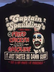 Captain Spaulding - Fried Chicken and Gasoline Tshirt rob zombie gore horror