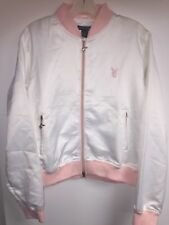 Playboy Pink & white satin Style jacket, Women's junior's L Large