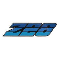 """80-81 Camaro """" Z28 """" Front Grille Emblem w/Hardware Tri Color BLUE - USA Made"""