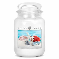 Aromatize Goose Creek 24oz Large Scented Candle Jar Assorted Fragrances 2 Wicks White Coral